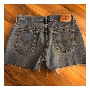 Levi's Distressed Cutoff Jean Shorts, 515